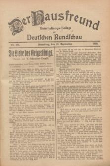 Der Hausfreund : Unterhaltungs-Beilage zur Deutschen Rundschau. 1928, Nr. 200 (16 September)