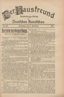 Der Hausfreund : Unterhaltungs-Beilage zur Deutschen Rundschau. 1928, Nr. 201 (18 September)