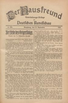 Der Hausfreund : Unterhaltungs-Beilage zur Deutschen Rundschau. 1928, Nr. 202 (19 September)