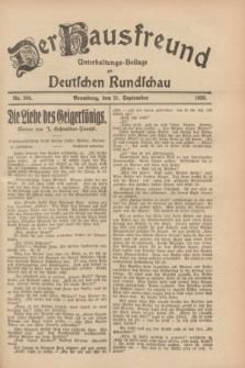 Der Hausfreund : Unterhaltungs-Beilage zur Deutschen Rundschau. 1928, Nr. 204 (21 September)