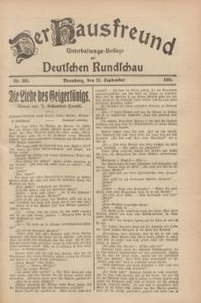 Der Hausfreund : Unterhaltungs-Beilage zur Deutschen Rundschau. 1928, Nr. 205 (22 September)
