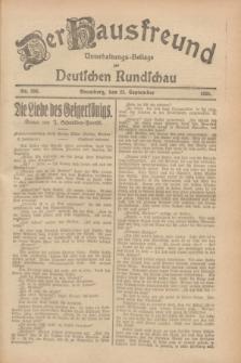 Der Hausfreund : Unterhaltungs-Beilage zur Deutschen Rundschau. 1928, Nr. 206 (23 September)