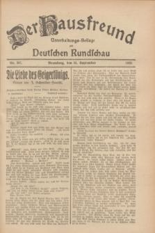 Der Hausfreund : Unterhaltungs-Beilage zur Deutschen Rundschau. 1928, Nr. 207 (25 September)