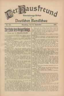 Der Hausfreund : Unterhaltungs-Beilage zur Deutschen Rundschau. 1928, Nr. 208 (26 September)