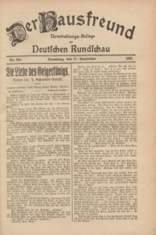 Der Hausfreund : Unterhaltungs-Beilage zur Deutschen Rundschau. 1928, Nr. 209 (27 September)