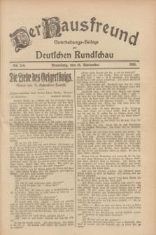 Der Hausfreund : Unterhaltungs-Beilage zur Deutschen Rundschau. 1928, Nr. 210 (28 September)