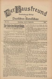 Der Hausfreund : Unterhaltungs-Beilage zur Deutschen Rundschau. 1928, Nr. 212 (30 September)