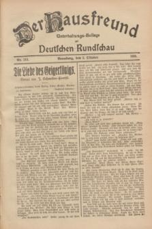 Der Hausfreund : Unterhaltungs-Beilage zur Deutschen Rundschau. 1928, Nr. 213 (2 October)
