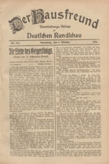 Der Hausfreund : Unterhaltungs-Beilage zur Deutschen Rundschau. 1928, Nr. 215 (4 October)