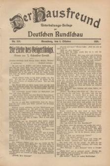 Der Hausfreund : Unterhaltungs-Beilage zur Deutschen Rundschau. 1928, Nr. 216 (5 October)