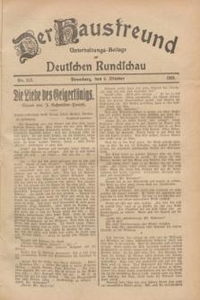 Der Hausfreund : Unterhaltungs-Beilage zur Deutschen Rundschau. 1928, Nr. 217 (6 October)