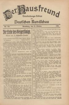 Der Hausfreund : Unterhaltungs-Beilage zur Deutschen Rundschau. 1928, Nr. 220 (10 October)