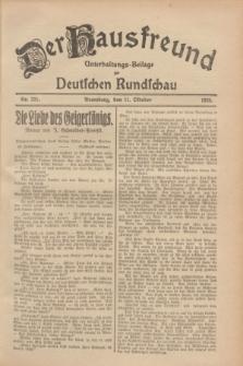Der Hausfreund : Unterhaltungs-Beilage zur Deutschen Rundschau. 1928, Nr. 221 (11 October)