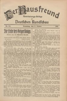 Der Hausfreund : Unterhaltungs-Beilage zur Deutschen Rundschau. 1928, Nr. 222 (12 October)