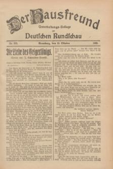 Der Hausfreund : Unterhaltungs-Beilage zur Deutschen Rundschau. 1928, Nr. 223 (13 October)