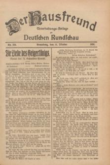 Der Hausfreund : Unterhaltungs-Beilage zur Deutschen Rundschau. 1928, Nr. 224 (14 October)
