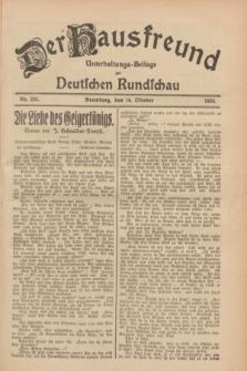 Der Hausfreund : Unterhaltungs-Beilage zur Deutschen Rundschau. 1928, Nr. 225 (16 October)