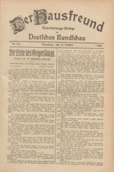 Der Hausfreund : Unterhaltungs-Beilage zur Deutschen Rundschau. 1928, Nr. 227 (18 October)