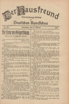 Der Hausfreund : Unterhaltungs-Beilage zur Deutschen Rundschau. 1928, Nr. 228 (19 October)