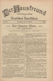 Der Hausfreund : Unterhaltungs-Beilage zur Deutschen Rundschau. 1928, Nr. 229 (20 October)