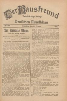 Der Hausfreund : Unterhaltungs-Beilage zur Deutschen Rundschau. 1928, Nr. 230 (21 October)