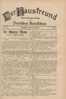 Der Hausfreund : Unterhaltungs-Beilage zur Deutschen Rundschau. 1928, Nr. 231 (23 October)