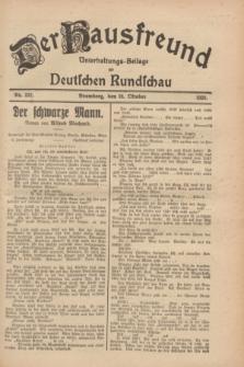 Der Hausfreund : Unterhaltungs-Beilage zur Deutschen Rundschau. 1928, Nr. 232 (24 October)