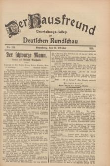 Der Hausfreund : Unterhaltungs-Beilage zur Deutschen Rundschau. 1928, Nr. 235 (27 October)