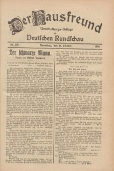 Der Hausfreund : Unterhaltungs-Beilage zur Deutschen Rundschau. 1928, Nr. 238 (31 October)