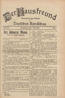 Der Hausfreund : Unterhaltungs-Beilage zur Deutschen Rundschau. 1928, Nr. 239 (1 November)