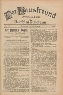 Der Hausfreund : Unterhaltungs-Beilage zur Deutschen Rundschau. 1928, Nr. 240 (3 November)
