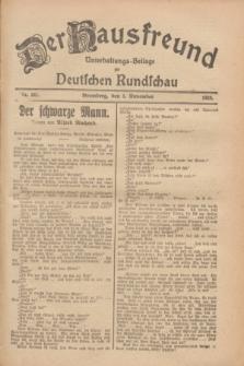 Der Hausfreund : Unterhaltungs-Beilage zur Deutschen Rundschau. 1928, Nr. 241 (4 November)