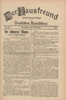 Der Hausfreund : Unterhaltungs-Beilage zur Deutschen Rundschau. 1928, Nr. 242 (6 November)