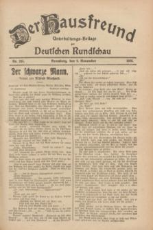 Der Hausfreund : Unterhaltungs-Beilage zur Deutschen Rundschau. 1928, Nr. 244 (8 November)