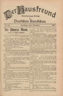Der Hausfreund : Unterhaltungs-Beilage zur Deutschen Rundschau. 1928, Nr. 245 (9 November)