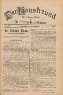 Der Hausfreund : Unterhaltungs-Beilage zur Deutschen Rundschau. 1928, Nr. 250 (15 November)