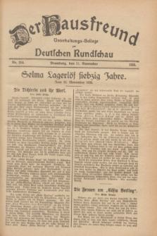 Der Hausfreund : Unterhaltungs-Beilage zur Deutschen Rundschau. 1928, Nr. 254 (21 November)