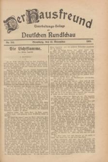 Der Hausfreund : Unterhaltungs-Beilage zur Deutschen Rundschau. 1928, Nr. 255 (22 November)