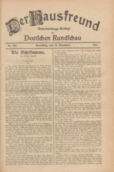 Der Hausfreund : Unterhaltungs-Beilage zur Deutschen Rundschau. 1928, Nr. 256 (23 November)