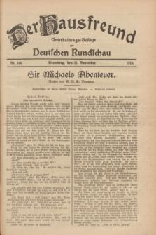 Der Hausfreund : Unterhaltungs-Beilage zur Deutschen Rundschau. 1928, Nr. 259 (27 November)
