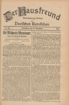 Der Hausfreund : Unterhaltungs-Beilage zur Deutschen Rundschau. 1928, Nr. 260 (28 November)