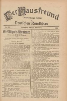 Der Hausfreund : Unterhaltungs-Beilage zur Deutschen Rundschau. 1928, Nr. 262 (30 November)