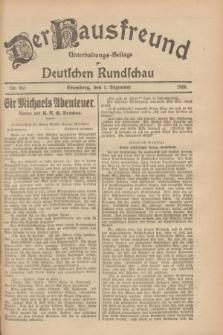 Der Hausfreund : Unterhaltungs-Beilage zur Deutschen Rundschau. 1928, Nr. 263 (1 Dezember)