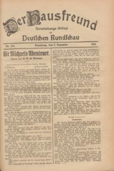 Der Hausfreund : Unterhaltungs-Beilage zur Deutschen Rundschau. 1928, Nr. 264 (2 Dezember)