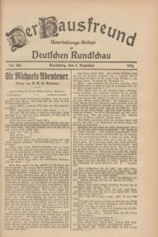 Der Hausfreund : Unterhaltungs-Beilage zur Deutschen Rundschau. 1928, Nr. 265 (4 Dezember)