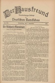 Der Hausfreund : Unterhaltungs-Beilage zur Deutschen Rundschau. 1928, Nr. 268 (7 Dezember)