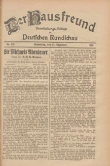 Der Hausfreund : Unterhaltungs-Beilage zur Deutschen Rundschau. 1928, Nr. 270 (11 Dezember)