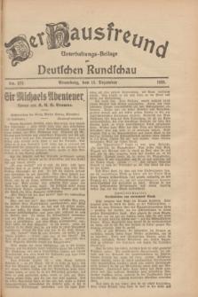 Der Hausfreund : Unterhaltungs-Beilage zur Deutschen Rundschau. 1928, Nr. 272 (13 Dezember)