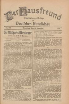 Der Hausfreund : Unterhaltungs-Beilage zur Deutschen Rundschau. 1928, Nr. 273 (14 Dezember)