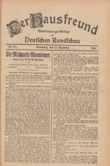 Der Hausfreund : Unterhaltungs-Beilage zur Deutschen Rundschau. 1928, Nr. 274 (15 Dezember)
